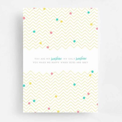 You Are My Sunshine Baby Shower Invitation - Back
