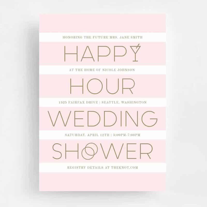Happy Hour Wedding Shower Front - Rose Gold