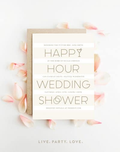 Happy Hour Wedding Shower Invitation