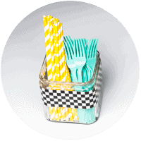 Checkered-Duck-Tape-Utensils