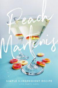 Peach martini recipe sweet peach martinis pinterest