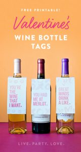 Free Printable Valentine Wine Bottle Tags