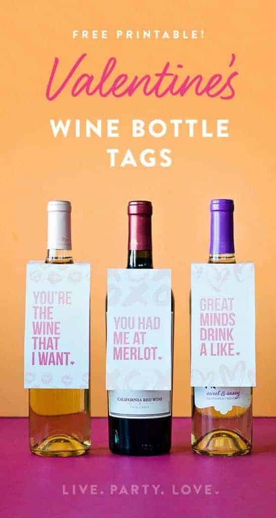 Free Printable Valentine Wine Bottle Tags