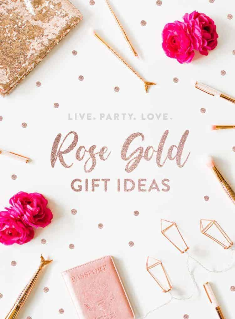 Rose Gold Gift Ideas for Her Pin