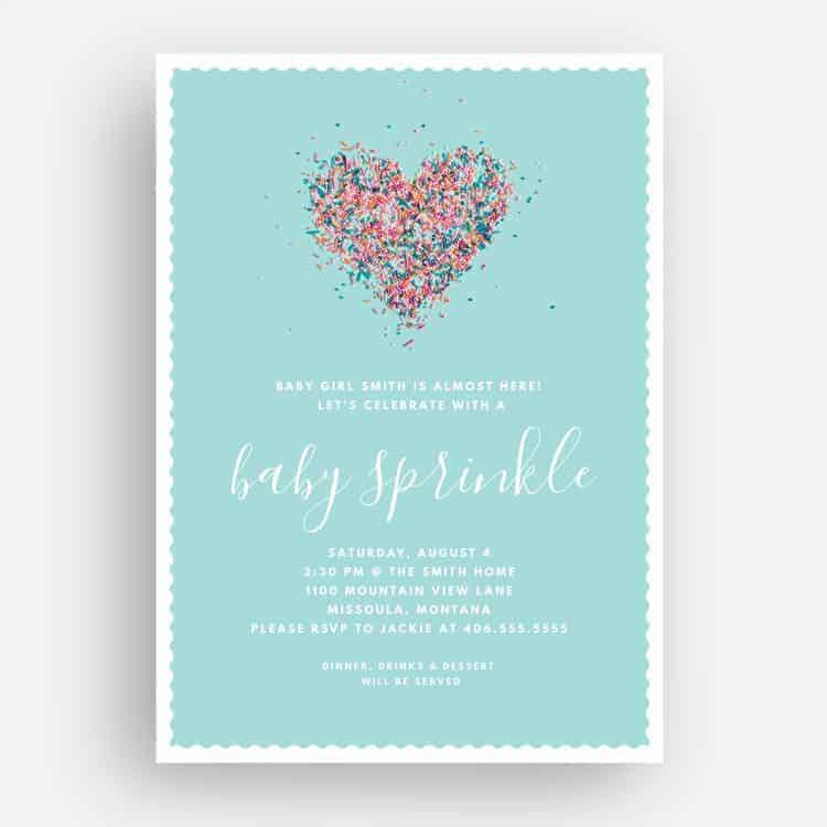 Baby Sprinkle Invitation Front