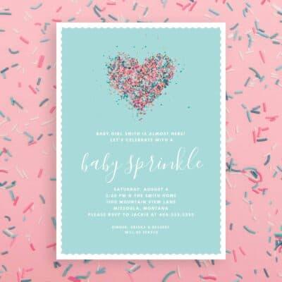 Baby-Sprinkle-Invitation with Sprinkles