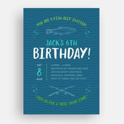 Fishing Birthday Invitation Front